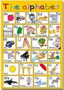 "Next εκπαιδευτική αφίσα ""Αγγλικό αλφάβητο"" 50x70εκ."