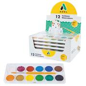 Adel νερομπογιές με 12 χρώματα
