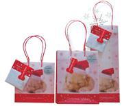 "Next πολυπροπ. τσάντα για μπουκάλια Y35x12,3x8,5 ""Christmas wishes"""