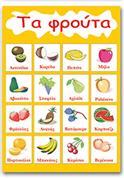 """Next εκπαιδευτική αφίσα """"Τα φρούτα"""" 50x70εκ."""