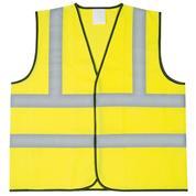 Γιλέκο ασφαλείας ανακλαστικό,  κίτρινο φωσφορούχο