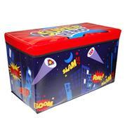 """Σκαμπώ-κουτί αποθήκευσης υφασμάτινο """"super heroes"""" Υ35x60x30εκ."""