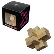 """Παζλ σπαζοκεφαλιά ξύλινη """"αστέρι"""" 7,5x7,5x7εκ."""