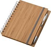 Σημειωματάριο με στυλό από μπαμπού 14,5x18x1εκ.