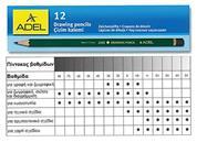 Adel μολύβια σχεδίου 8Β-5Η