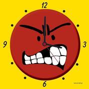 """Ρολόι χάρτινο """"θυμωμένη φατσούλα"""""""