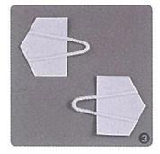 Κρεμασταράκια χάρτινα 2,4x3,1εκ. (1000τεμ.)