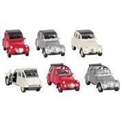 "Goki αυτοκινητάκια μεταλλικά ""Citroen 2CV"" 1:34-39 σε 6 σχέδια"