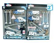 Σετ αυτοκινητάκια και εργαλεία μεταλλικά 2 σχέδια Υ31x20x5εκ.