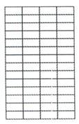Ετικέτες αυτοκόλ. 52,5x21,2mm 56/φ 100φ Α4