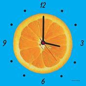 """Ρολόι χάρτινο """"πορτοκάλι"""""""