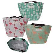 """Τσάντα ισοθερμική-lunch bag """"flamingo"""" Υ22x19x17εκ. κοκτέηλ 3 σχέδια"""