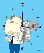 """Ρολόι χάρτινο """"παπάκι με πιστόλι"""""""