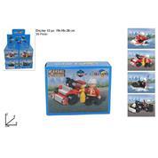 """Κουτί με 35 τουβλάκια κατασκευών """"αστυνομικοί-πυροσβέστες"""" κοκτέηλ 4 σχέδια"""