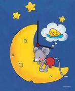 """Ρολόι χάρτινο """"φεγγάρι-ποντίκι"""""""