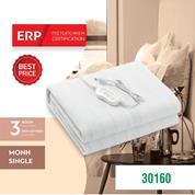 Ηλεκτρική κουβέρτα μονή & πλενόμενη με χειριστήριο 60W 220-240V