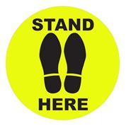 """Αυτοκόλλητο δαπέδου """"STAND HERE"""", 30 εκ. διάμετρος"""
