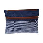 Comix τσαντάκι με φερμουάρ & θήκη Α4 σκ.μπλε Y33,5x24,5εκ.