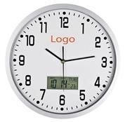 Ρολόι τοίχου ψηφ. ένδειξη ημερομηνίας-θερμοκασίας Ø35εκ.