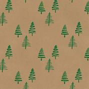 "Next χαρτί περιτυλίγματος κραφτ ""χριστουγεννιάτικο δέντρο"" 20 φύλλα 70x100εκ. 70γρ."