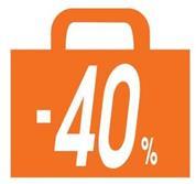 "Next αφίσα ""Σακούλα -40%"" για βιτρίνες 34x32εκ."
