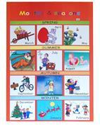 "Next εκπαιδευτική αφίσα ""Οι εποχές του χρόνου"" Αγγλικά 50x70εκ."