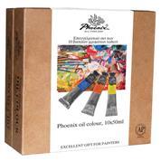 Phoenix  επαγγελματικό σετ χρωμάτων λαδιού, 10 τεμάχια, 50ml/τεμ.