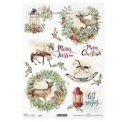 """Ριζόχαρτο """"Christmas"""" 21x29.7εκ.   (ITD-R1637)"""
