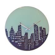 """Ρολόι τοίχου γυάλινο """"Manhattan"""" Ø35εκ."""