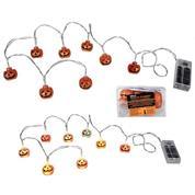 """Λαμπάκια Halloween """"κολοκύθες"""" led 3x2εκ. ,1,30μ."""