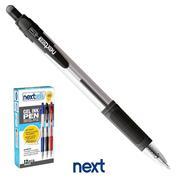 Νext στυλό gel pen με κουμπί μαύρο 0.7mm