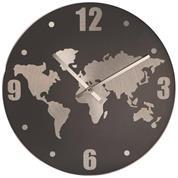 Ρολόι τοίχου αλουμινίου γκρι Ø30x2,7εκ.