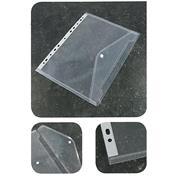 Φάκελος με κουμπί που κλασάρεται διάφανος, Α4, 180mic.