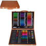 Σετ ζωγραφικής XXL σε ξύλινο κουτί 150τεμαχίων Υ37x30εκ.