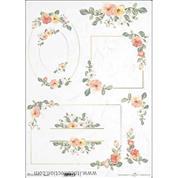 """Ριζόχαρτο """"Watercolors flowers 2"""" 42x29.7εκ.   (ITD-R0314L)"""