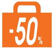 "Next αφίσα ""Σακούλα -50%"" για βιτρίνες 34x32εκ."