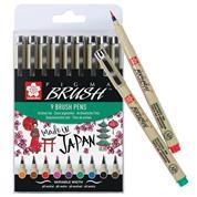 Sakura pigma brush σετ 9 τεμ.