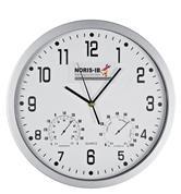 Ρολόι τοίχου θερμόμετρο-υγρόμετρο λευκό καντράν Ø35εκ.