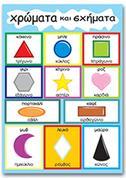 """Next εκπαιδευτική αφίσα """"Χρώματα και σχήματα"""" 50x70εκ."""