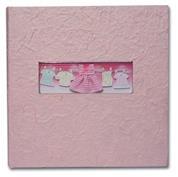 Φώτο άλμπουμ ροζ βάπτισης  για 200 φωτογρ. 22,5x22,2εκ.