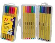 Molin μαρκαδόροι fine liner 12 χρώματα 0,4mm