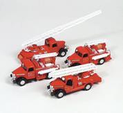 Αυτοκίνητα πυροσβεστικής μεταλλικά 2 σχέδια 12 τεμάχια