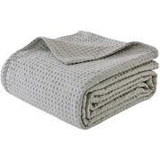 """Κουβέρτα """"Pablo"""" πικέ 100% βαμβακερή 220x240εκ. γκρι"""