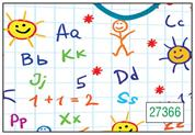 "Next χαρτί περιτυλίγματος 16 φύλλα 70x100εκ. ""γράμματα & αριθμοί"""