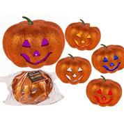 """Διακοσμητική """"κολοκύθα"""" Halloween"""" με glitter led 17εκ."""