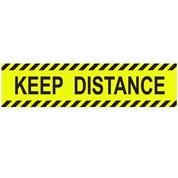 """Αυτοκόλλητη επιγραφή """"KEEP DISTANCE"""", 32x8εκ."""