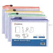 Comix τσαντάκι PVC διάφανο με φερμουάρ Α5 Υ21x15εκ.