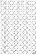 Markin ετικέτες αυτοκόλ. ασημί ø20mm 88/φ 10φ Α4