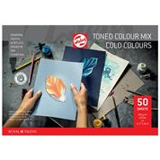 Talens μπλοκ mix ψυχρών χρωμάτων 50φυλ. Α3 50φ. 180 γρ.