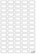 Markin ετικέτες αυτοκόλ. ασημί 38,1x21,2mm 65/φ 10φ Α4